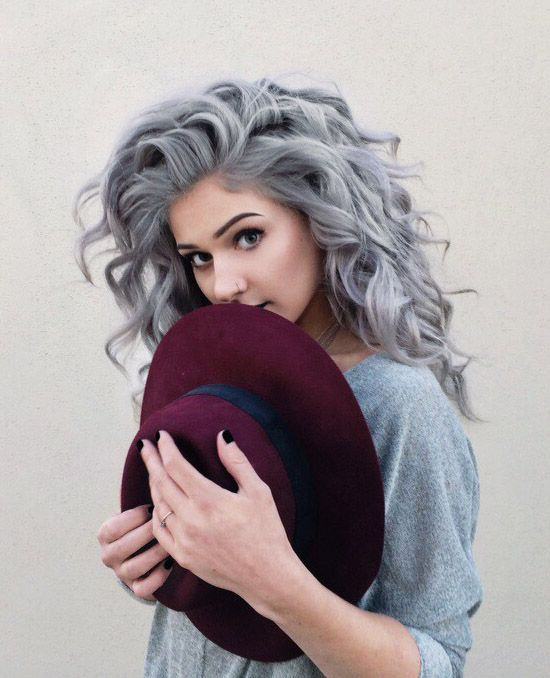 19 Hair Colors You Must Adore | Hair styles, Grey curly hair .