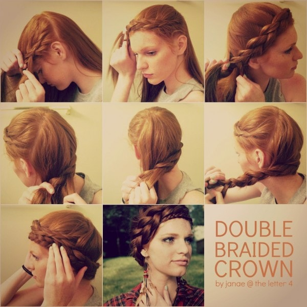 Hair Tutorial: Double Braided Crown by Janae at The Letter