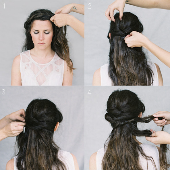 Wedding Hair Tutorial: Crown Braid Chignon - Wedding Idea of the .