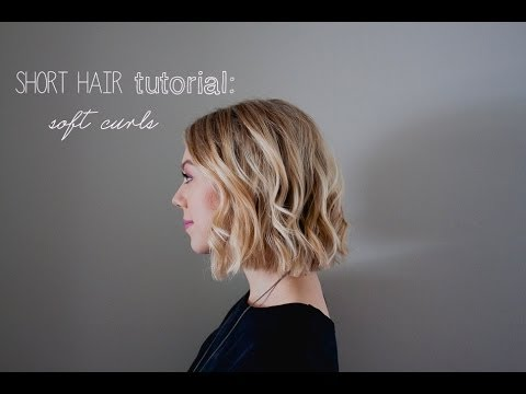 short hair tutorial: soft curls for summer / weddings/ prom - YouTu