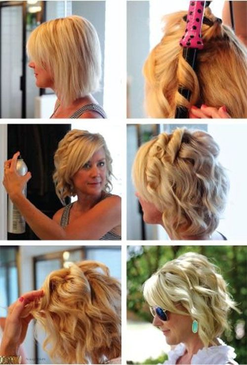 Curl Short Hair, Curling Iron Tutorials, How to Hacks | How to .
