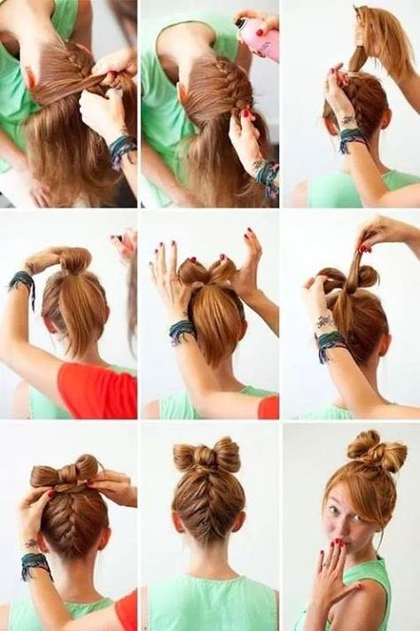 13 Hair Tutorials for Bow Hairstyles | Bow hairsty