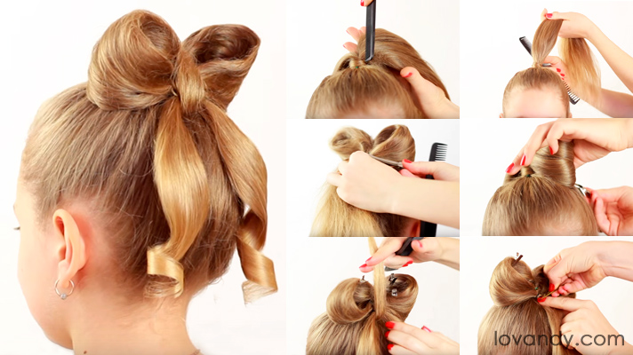 Hair Tutorials for Bow Hairstyles