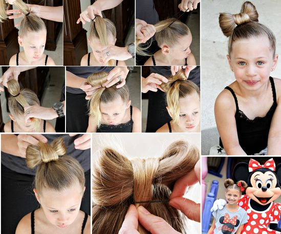 DIY Little Girls Hairstyles | Bow hairstyle tutorial, Little girl .