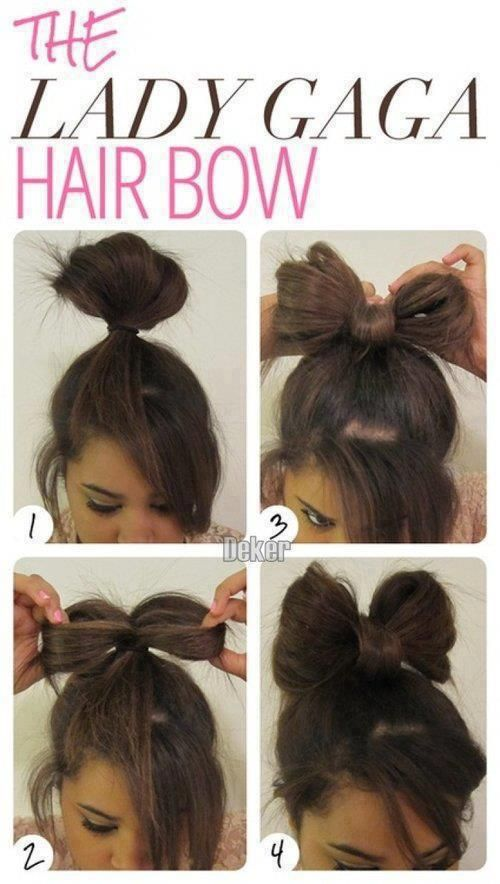 Lady gaga hair bow tutorial step by step Good for last minute .