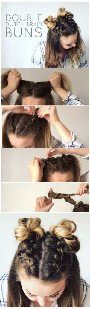 The Easiest Double Bun Hairstyle Tutorials For A Futuristic Look .