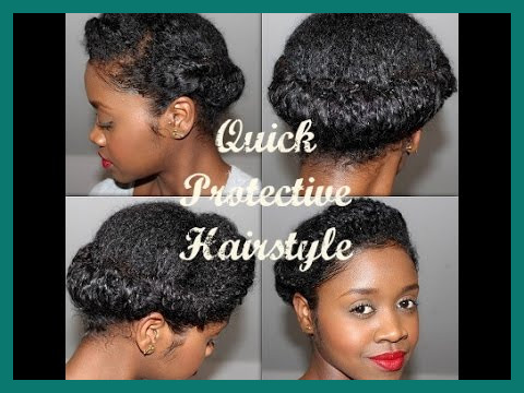 Natural Hairstyles Youtube 486448 Quick Protective Natural .