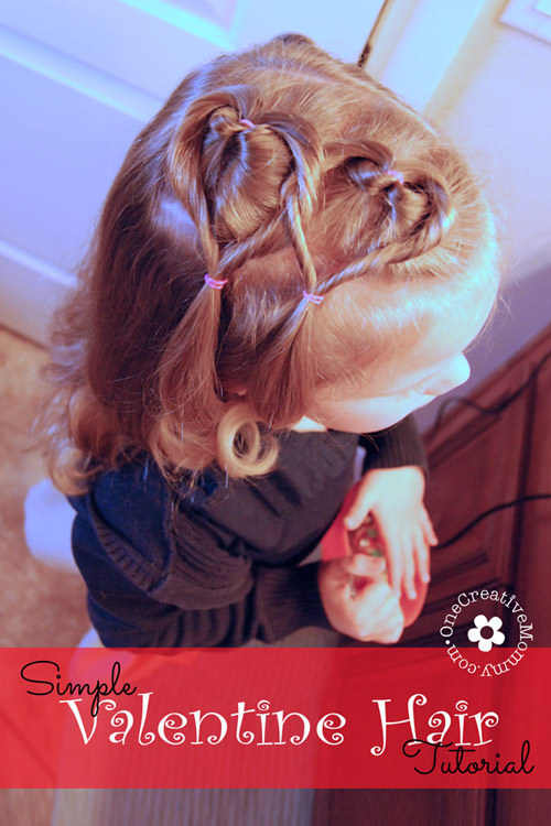 Easy Valentine Hair Style Tutorial – onecreativemommy.c