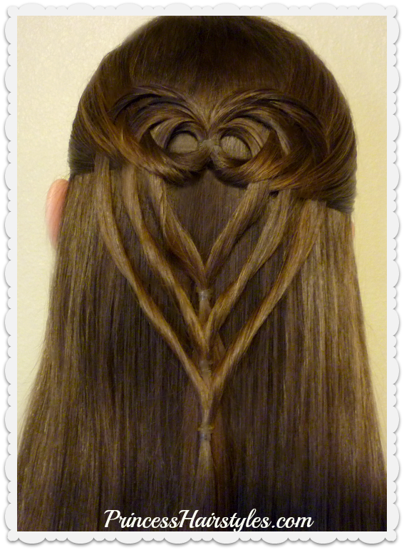 Triple Tuck Heart Hairstyle For Valentines Day | Hairstyles For .