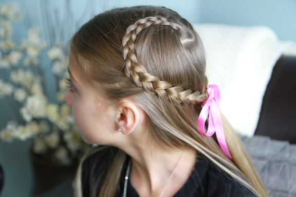 Lace Braid Heart | Valentine's Day Hairstyles - Cute Girls Hairstyl