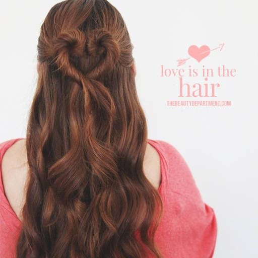 THE HEART BUN | Heart hair, Valentine's day hairstyles, Hair styl
