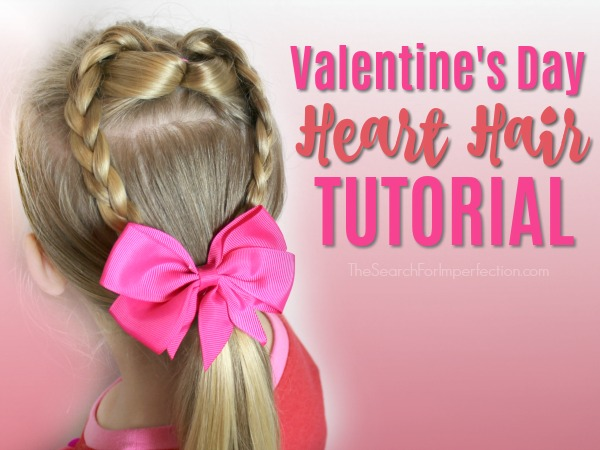 Valentine's Day Heart Hair Tutorial - Quick and Easy Hairstyle in .