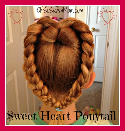 Sweet Heart Ponytail for Valentine's Day - Hair Tutorial - Oh So .