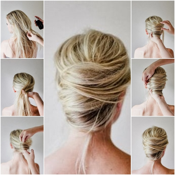 How to Make Messy French Twist Updo Hairstyle - DIY Tutoria
