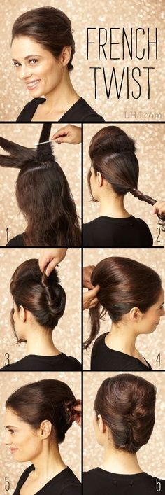 14 Fabulous French Twist Updos | Hair, French twist hair, Short .