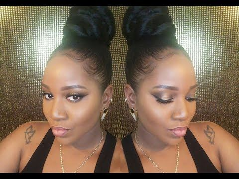Super Easy Protective Style | High Bun On Short Natural Hair .
