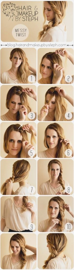 Hair Tutorials: Messy Hairsytles - Pretty Desig