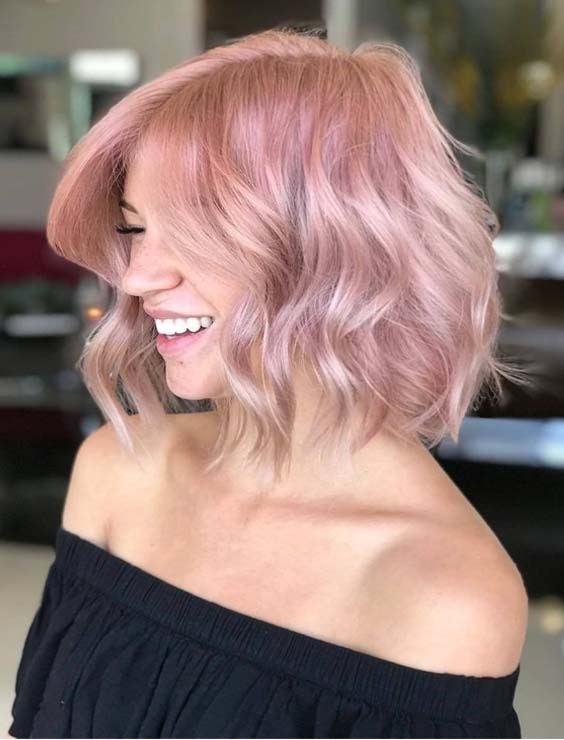Perfect Dusty Pink Hair Color Ideas For Short Haircuts | Absurd Styl