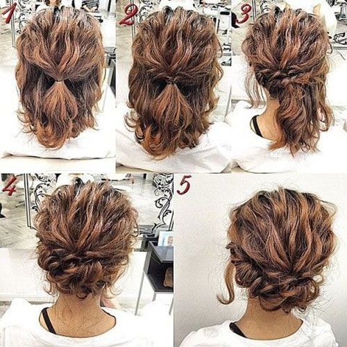 Easy Updo Tutorials For Short Hair #9 | Simple prom hair, Long .