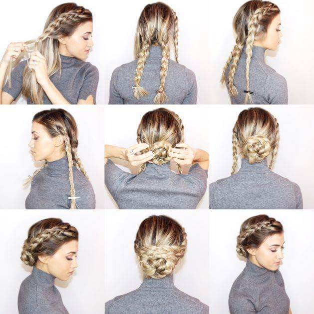 55 Easy Updos to Look Effortlessly Ch