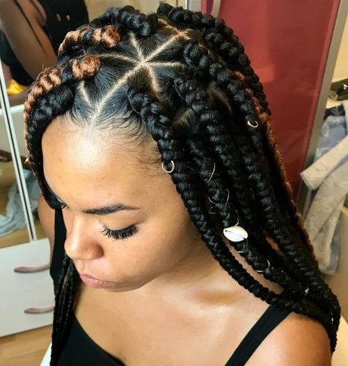 Simple braided hairstyles for black women .