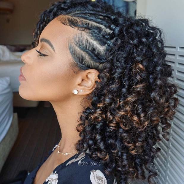 23 Summer Protective Styles for Black Women | Curly hair styles .