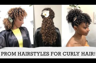 Cute Prom Hairstyles For Curly Hair! 3 Curl Types, 3 Lengths, 6 .