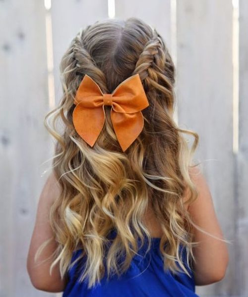 Cutest Braided Hairstyles for Little Girls 2018 | Flower girl .
