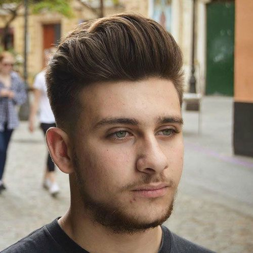 25 Best Haircuts for Guys with Round Faces | Round face haircuts .