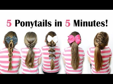 5 ponytails in 5 minutes - Quick and easy ponytail hairstyles for .