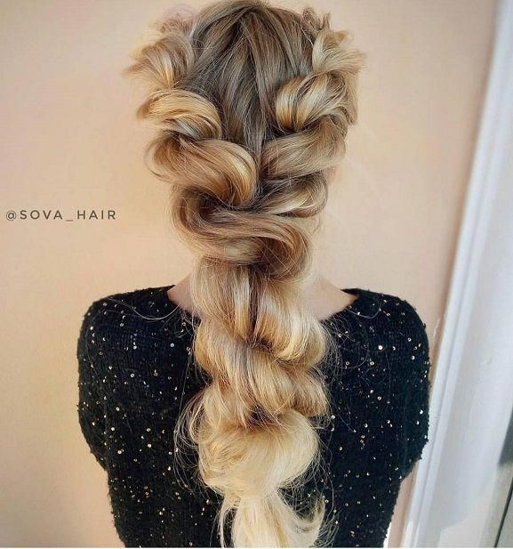 Rope braided hairstyle ideas for long hair,Boho hairstyles,Chic .