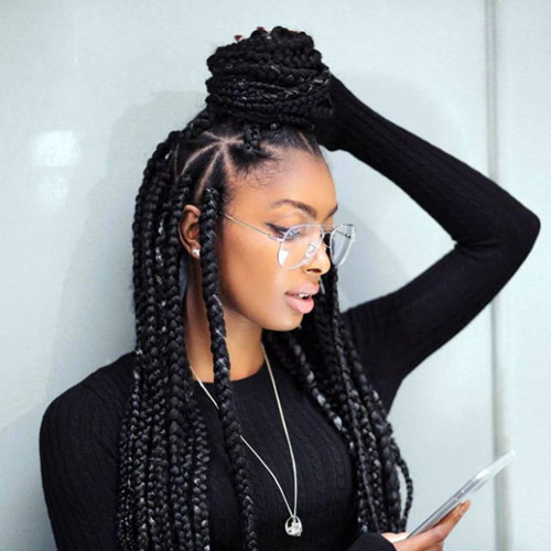 35 Best Black Braided Hairstyles for 20