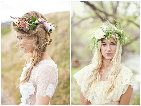 FLOWER CROWNS WEDDING HAIR INSPIRATION – Passion for Flowe