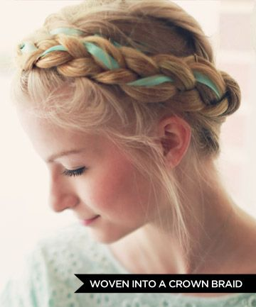 15 Ways to Wear Hair Ribbons in 2020 | Braided hairstyles, Hair .