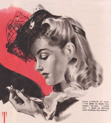 An absolutely lovely 1940s hairstyle to wear with vintage hats .