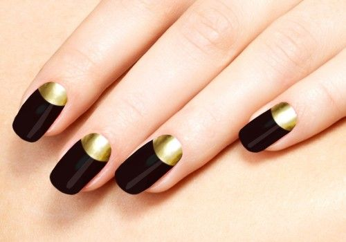 20 Extremely Cute Half-moon Nail Art Designs You Must Try: Black .