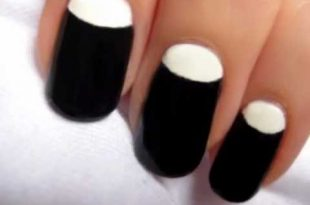 Half Moon Manicure Nail Art - YouTu