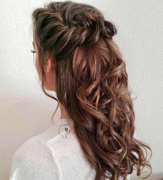 31 Half Up, Half Down Hairstyles for Bridesmaids | Down hairstyles .