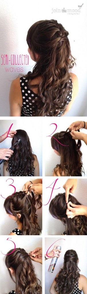 15 Stylish Half up Half down Tutorials - Pretty Desig