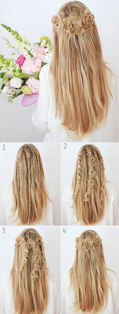 Half up Half down Hair Tutorials