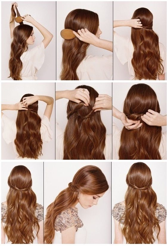 Half Up Half Down Hair Tutorial | Beauty Tutorials | Lazy girl .