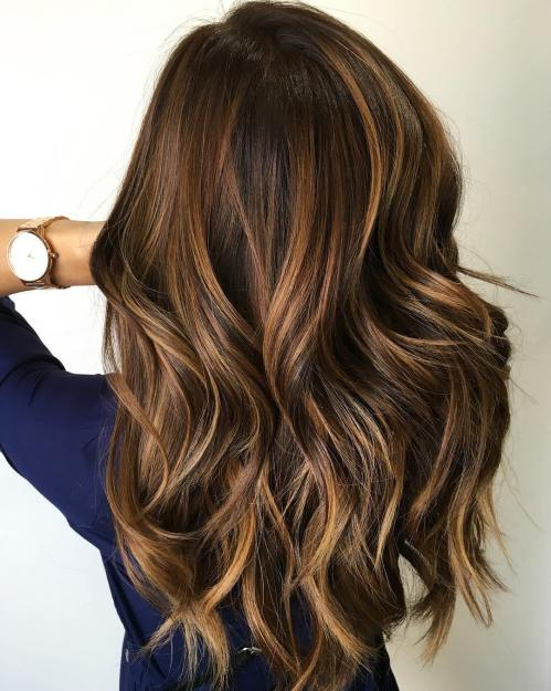 Highlighted Hairstyles for Brown Hair