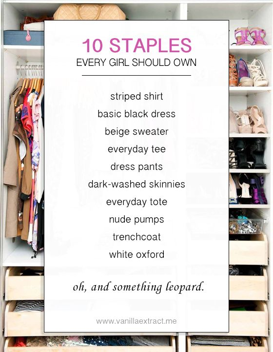 10 Staples Every Girl Should Own // vanilla extract. Looks like I .