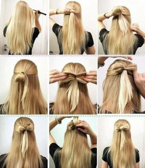 A cool and easy way to do your hair for a casual look and a dressy .