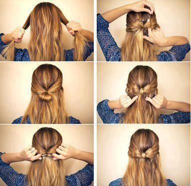How to Make a Bow Out of Your Hair | Hair styles, Hair photo, Hair .
