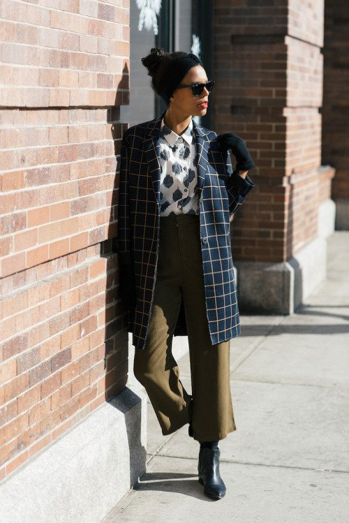 How to Wear Checked Pieces for Winter - FlawlessE