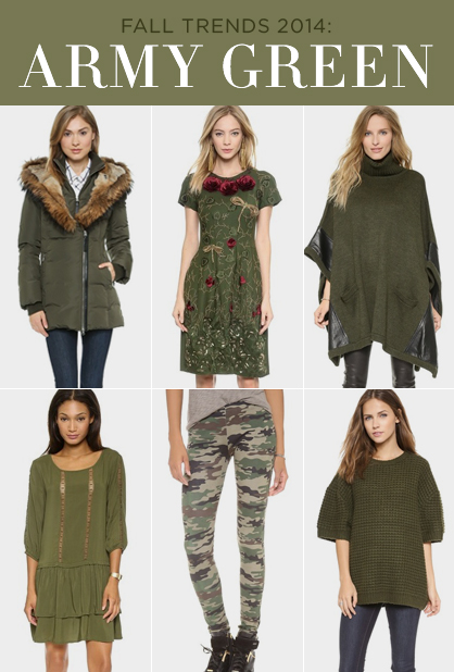 Fall 2014 Military Green Fashion Trend | LadyLUX - Online Luxury .