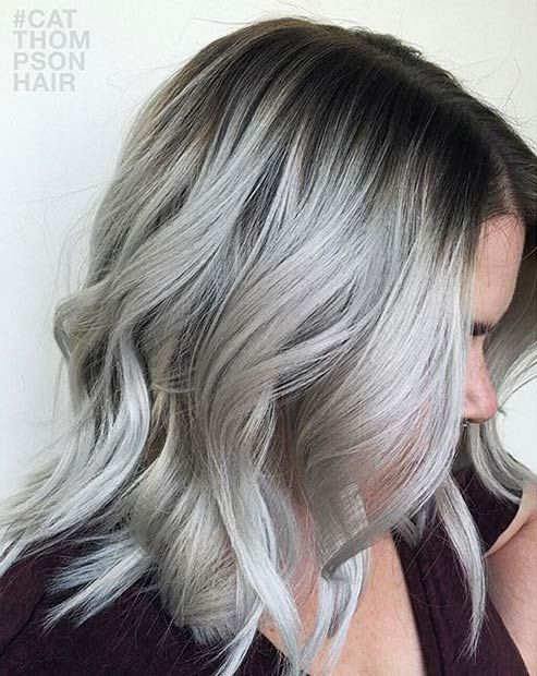 41 Stunning Grey Hair Color Ideas and Styles | Silver grey hair .