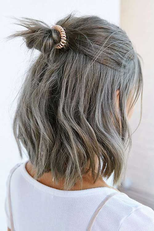 These Days Most Popular Short Grey Hair Ideas | Ash brown hair .