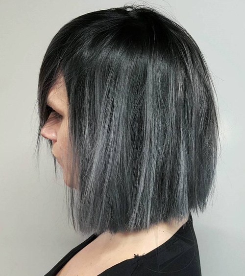 18 Ideas to Style a Grey Hair Look - Pretty Desig